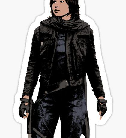 Jyn Erso - Star Wars: Rogue One - Black Sticker