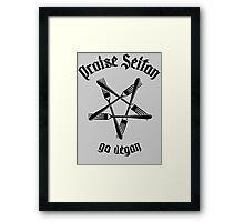 Praise Seitan 1.1 (black) Framed Print