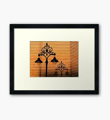Streetlight shadow  Framed Print