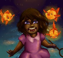 Girl and the Magic Goldfish by shoona