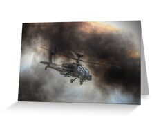 Apache HDR  - Dunsfold Wings and Wheels 2014 Greeting Card