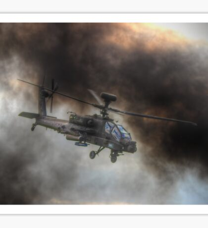 Apache HDR  - Dunsfold Wings and Wheels 2014 Sticker