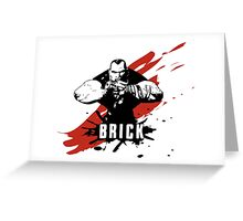 Brick Greeting Card