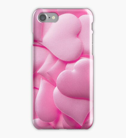 Pink hearts background iPhone Case/Skin