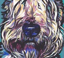 Wheaten Terrier Bright colorful pop dog art by bentnotbroken11