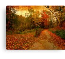 Sauntering into the rusts Canvas Print