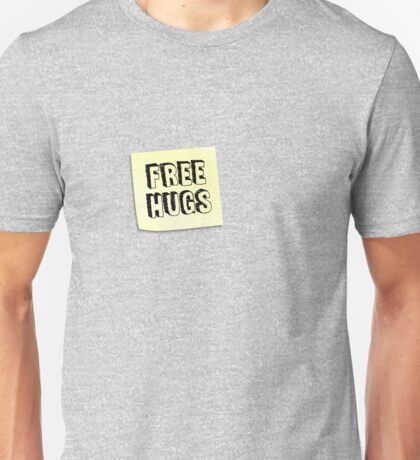 FREE HUGS - Post It Unisex T-Shirt