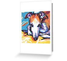 Whippet Dog Bright colorful pop dog art Greeting Card