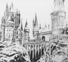 hogwarts castle by cocosuspenders