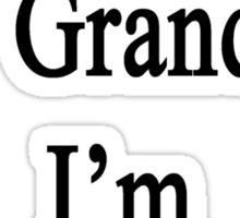Thanks To My Grandma I'm An Illustrator  Sticker