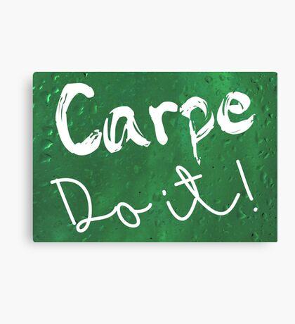 Carpe Do it! (green) Canvas Print