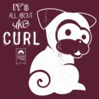 It's All About the Curl Tee (Vintage Look) by boodapug