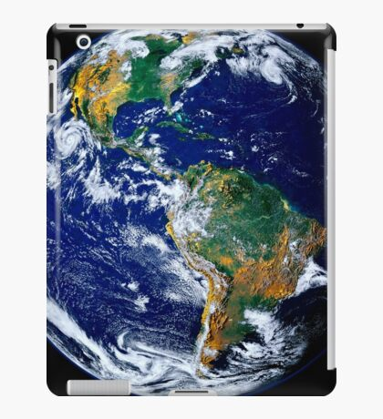 Full Earth Showing The Americas. iPad Case/Skin