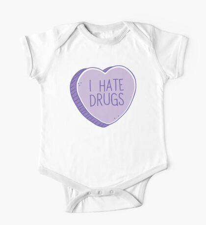 I hate drugs One Piece - Short Sleeve