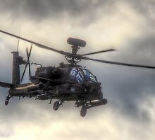 Mean Looking  Apache HDR - Dunsfold Wings and Wheels 2014 by Colin  Williams Photography