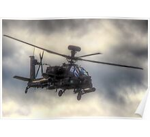 Mean Looking  Apache HDR - Dunsfold Wings and Wheels 2014 Poster