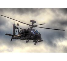 Mean Looking  Apache HDR - Dunsfold Wings and Wheels 2014 Photographic Print
