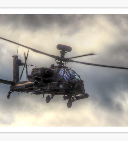 Mean Looking  Apache HDR - Dunsfold Wings and Wheels 2014 Sticker
