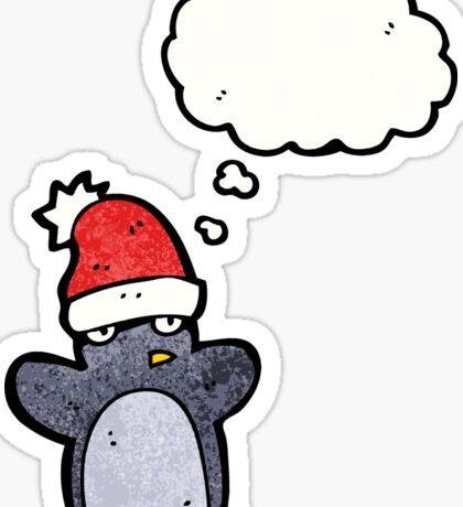 cartoon funny christmas penguin Sticker