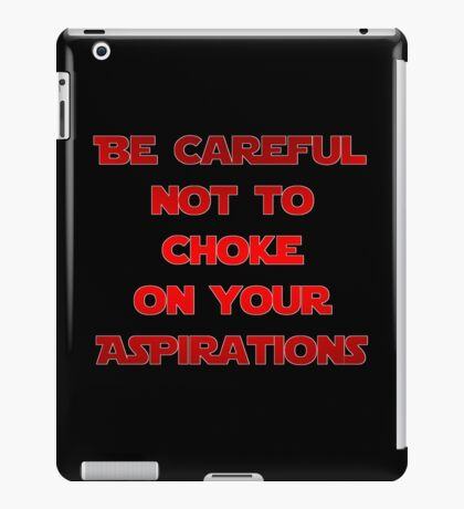 Darth Vader Quote iPad Case/Skin