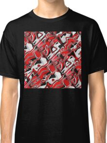 Red, White And Black Abstract Classic T-Shirt