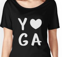 Yoga Love Cool Gift For Yoga Lovers  Women's Relaxed Fit T-Shirt