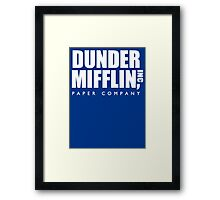 Dunder Mifflin Paper Company Title (White) - The Office Framed Print