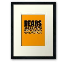 Bears, Beets, Battlestar Galactica - The Office Framed Print