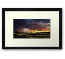 Danger Approaches - South Dakota Framed Print