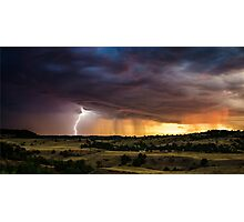 Danger Approaches - South Dakota Photographic Print