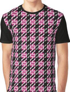 Tweed Texture Graphic T-Shirt