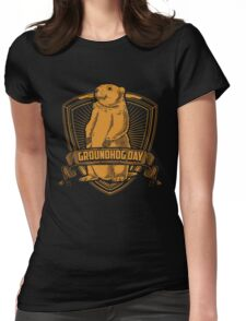 Groundhog Day With Groundhog Womens Fitted T-Shirt