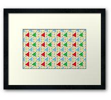 Retro Polka Dot Christmas Trees Framed Print