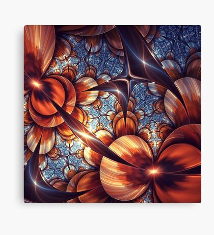 Amazing Brown Fractal Art Canvas Print