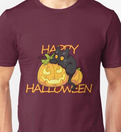 Halloween Black Cat Unisex T-Shirt
