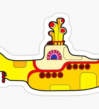 "The Beatles ""Yellow Submarine"" Sticker Sticker"