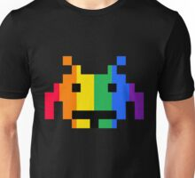 Rainbow Space Invader Unisex T-Shirt