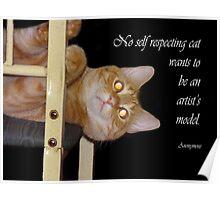 Self respecting cat Poster