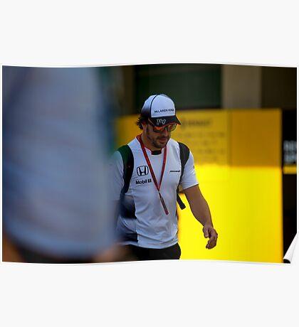 Fernando Alonso Formula 1 Poster