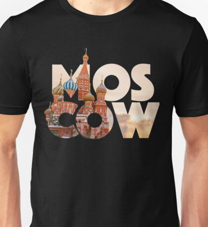 Russia Moscow Typography Unisex T-Shirt
