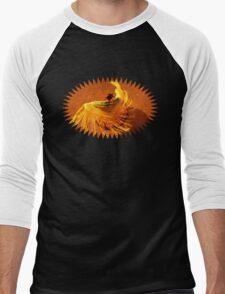 Flamenco Dancer Yellow Bird Men's Baseball ¾ T-Shirt