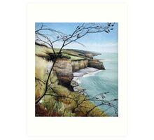 Towards Llantwit Major - South Wales coastal view Art Print