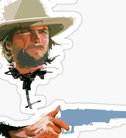 Clint Eastwood gun Sticker