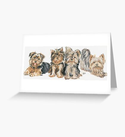 Yorkshire Terrier Puppies Greeting Card
