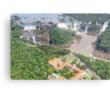 Iguazu Falls (from helicopter) - Brazil Metal Print