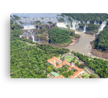 Iguazu Falls (from helicopter) - Brazil Canvas Print