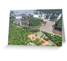 Iguazu Falls (from helicopter) - Brazil Greeting Card