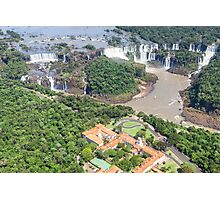 Iguazu Falls (from helicopter) - Brazil Photographic Print