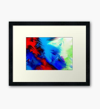 Brush Colors for Prints Framed Print