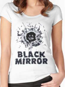Black Mirror Series Shirt Women's Fitted Scoop T-Shirt
